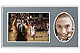 Player/Team 7x5/3x5 Gray MEMORY MATESCardstock double photo frame (sold in 10s)