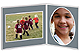 Player/Team 7x5/5x7 Gray Cardstock double photo frame (sold in 10s)