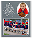 SPORTS Player/Team 7x5/3x5 sports MEMORY MATES Gray cardstock double photo frame (sold in 10s)