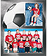 Soccer Player/Team 7x5/3�x5 MEMORY MATES cardstock double photo frame (sold in 10s)