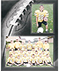 Football Player/Team 7x5/3�x5 MEMORY MATES cardstock double photo frame (sold in 10s)