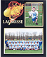 Lacrosse Player/Team 7x5/3�x5 MEMORY MATES cardstock double photo frame (sold in 10s)
