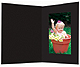Black smooth cardboard event photo folder frame / plain border (sold in 25s)