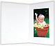 White smooth cardboard event photo folder frame / plain border (sold in 25s)