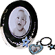 Silver Lil Star Boy frame and key chain set by GUND�