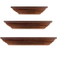 Classic Walnut wall ledges (set of 3) by Burnes / Level-Line�