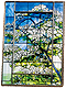 Tiffany Dogwood Glass Easel 4x6 Frame from the Metropolitan Museum� collection