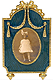 Azure Russian Imperial Ribbon Miniature Frame from The Metropolitan Museum of Art�