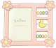 Adorable pink abacus baby frame by Lawrence�
