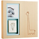 Babyprints� Modern wall frame in Natural with Pink and Blue inserts