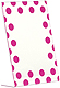 Pink POLKA DOTS tabletop acrylic with bent `L` easel by Burnes�