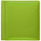 RODEO LIME-GREEN pebble-grain leather #106 scrapbook album by Raika�