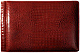 NILE RED #136 crocodile print leather 1-up 6x4 album by Raika�
