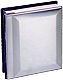 Special occasion engraveable nickel-plated silver album holds 100 4x6 photos