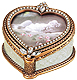 SERENADE heart frame box with French glass pearls and Austrian crystal by Edgar Berebi�