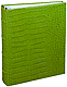 Standard 3-ring Lime Crocodile-look Fine European Leather binder (unfilled) by Graphic Image�