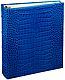 Standard 3-ring Blue Croco-look Fine Leather binder (unfilled) by Graphic Image�