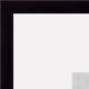 Custom-Cut� STANDARD metallic ebony-black frame H:1-5/16 W:7/16 R:3/4