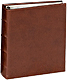 Standard 3-ring Rustico-Brown bonded leather FILLED with 4x6 slip-in pocket pages by Graphic Image�
