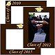 Celebrate your GRADUATION with our engraved frame in walnut hardwood