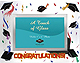 CONGRATULATIONS Graduate colorful glass frame