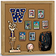 Indoor MEMORABILIA CASE - Light Oak wood with cork backing