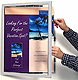 Poster size Hinged Front-Door INDUSTRIAL SWING FRAME w/lock in anodized Silver Aluminum