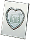 CARLY HEART polished silver engraveable frame