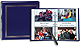 3-ring 2-up slip-in pocket NAVY-BLUE binder album for 400+ photos