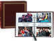 3-ring 2-up slip-in pocket BURGUNDY binder album for 400+ photos