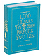 1000 PLACES TO SEEBEFORE YOU DIEby Patricia Schultz - special edition in Bright-Turquoise Leather