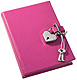 Pink DIARY (Small) with HEART LOCK Saffiano eco-leather by Graphic Image�