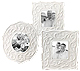 OPAL INNOCENCE CARVED Frames 3x3 - set of 3 - by Lenox� fine china