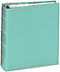 The Post Impressions� System standard 3-Ring Saffiano Aqua eco-leather binder (unfilled)