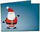 JOLLY SANTA Holiday Photo Folder for 6x4 (landscape) prints (sold in 25s)