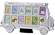 Chrome SCHOOL YEARS School bus photo frame for 12 wallet-size prints