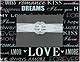 WORDS OF LOVE glass wallet-size/placecard keepsake