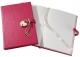 Pink DIARY (Small) with HEART LOCK in Brights Leather by Graphic Image�