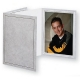 Printed Charcoal Cardstock Photo Folder Single 5x7 Vertical Frame (sold in 20s)