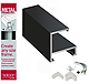 Nielsen METAL FRAMEKIT� Accents Matte-Black Flat-top 12inch section