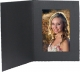 Black Cardboard Photomount Folder Single 4x6 frame w/plain border (sold in 25s)