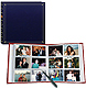 12-at-a-time post-bound ELITE navy blue album w/memo area pocket pages