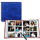 12-at-a-time ELITE royal blue album w/memo area 4x6 pocket pages