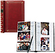 BI-DIRECTIONAL Burgundy slide-in pocket albums with Memo