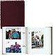 Bonded-Leather Burgundy BI-DIRECTIONAL 200 capacity slide-in pocket albums with Memo