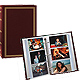 3-ring slip-in pocket BURGUNDY binder album for 300+ photos