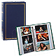 3-ring 3-up slip-in pocket NAVY-BLUE binder album for 300+ photos