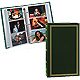 3-ring slip-in pocket HUNTER-GREEN binder album for 300+ photos