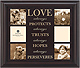 Wood Expressions LOVE IS ...engraved keepsake for 6 photos