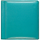 RODEO Turquoise pebble-grain leather #106 scrapbook album by Raika�